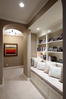 Built-In Bench and Shelves - traditional - hall - grand rapids - by Visbeen Associates, Inc.
