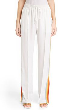 CHLOÉ Rainbow Stripe Track Pants. #chloé #cloth #