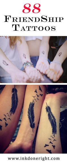 FriendShip Tattoos  Friends are Forever–And So Is That New Friendship Tattoo  To truly express your friendship, invest in something that will last forever — Friends are Forever - And So Are Friendship Tattoos!