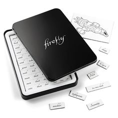 Decorate Your Fridge With This Shiny Firefly Magnetic Poetry