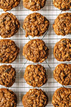 These gluten-free Teff Flour Oatmeal Raisin Cookies are THE PERFECT soft and chewy consistency. Plus they're naturally sweetened with honey and coconut sugar! Cookies Gluten Free, No Flour Cookies, Gluten Free Desserts, Healthy Desserts, Healthy Recepies, Paleo Cookies, Teff Recipes, Cookie Recipes, Dessert Recipes