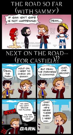 """kamidiox: """" txdora: """" My prediction for 2nd half of s11; beautifully illustrated by the amazing @kamidiox. """" Dios te oiga! Dean's priority is one and just one: Sam. """""""