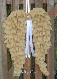 Burlap wings