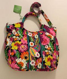 Vera Bradley Va Va Bloom Floral Two Way Tote Crossbody Shoulder Bag Purse NWT  | eBay