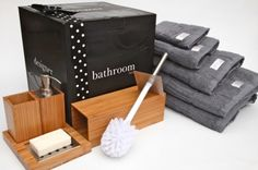 Bathroom Box - Charcoal Sky - hardtofind. #hardtofind #bathroom #clean #wood
