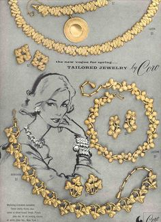 1956 Coro costume jewelry ad. #vintage #jewelry #ads #1950s