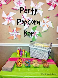 Popcorn Bar Ideas For Your Party