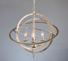 Chandeliers | Pottery Barn Wrought Iron Chandeliers, Antler Chandelier, Rectangle Chandelier, Globe Chandelier, Antique Chandelier, Chandelier Ideas, Kitchen Chandelier, Kitchen Lighting, Hammered Gold
