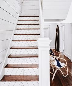 Great pattern on stairs, featured on a recent episode of the HGTV show, Fixer Upper.