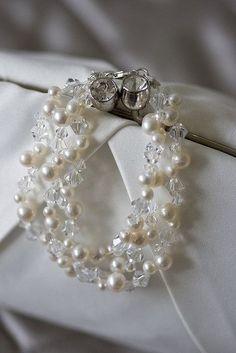 Ana Rosa---Swarovski Crystals & Pearl Bracelet