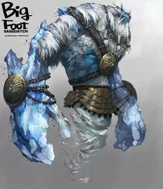 {CG部落}韩国游戏Big Foot人设场景色彩设计都很棒