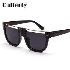 63955345eb433  FASHION  NEW Ralferty 2018 Trendy Sunglasses Women Men Eyeglasses Frame  Big Square Black Eyewear
