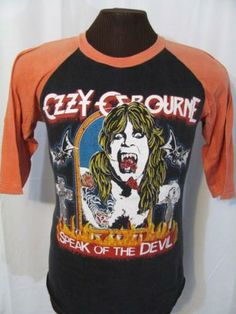 Ozzy Concert Shirts Loved this shirt because all my teachers hated it!