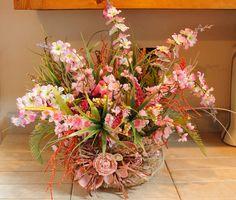Sea Grass Shell Basket Pam's DeZines Floral от PamsDeZines на Etsy