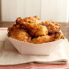 This Buttermilk-Brined Fried Chicken hits the spot every time! More comfort food recipes: http://www.bhg.com/recipes/dinner/comfort-food-recipes/?socsrc=bhgpin092213friedchicken&page=12