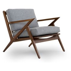 Joybird Furniture Soto Mid Century Modern Brown Apartment Chair ($639) ❤ liked on Polyvore featuring home, furniture, chairs, brown, mid century chair, mid century modern furniture, mid-century modern furniture, mid century modern chair and midcentury modern chair