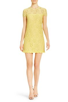 DVF | Perfect for the spring party circuit, Barbie is a stretch lace dress with a sheer contrast neckline.  http://on.dvf.com/198b4P6