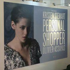 "New ""Personal Shopper"" banner for the European film market at the Berlinale!   #kristenstewart #personalshopper"
