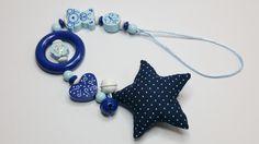 Babysafe Kette Kinderwagenkette blau SB110 von myduttel auf DaWanda.com