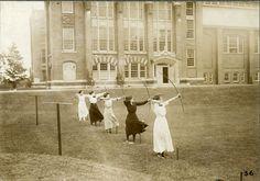 Wellesley archer, 1910s (Wellesley College Archives)