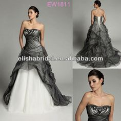 Black And White Wedding Dress 2013