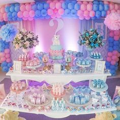Baby Shower Parties, Baby Shower Themes, Baby Boy Shower, Gender Party, Baby Gender Reveal Party, Double Baby Showers, Gender Reveal Party Decorations, Shower Bebe, Baby Shower Princess