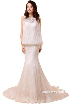 http://www.ikmdresses.com/Beach-Wedding-Dresses-Lace-Appliques-Bridal-Gown-p88014