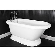 Spa Collection 59-inch Classic Style Pedestal Tub and Faucet Pack - Free Shipping Today - Overstock.com - 13804705