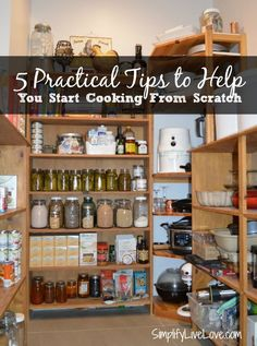 5 practical tips to help you start cooking from scratch and a cookbook giveaway or Prep Ahead Meals from Scratch!