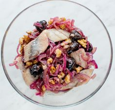 Herring with plums and walnuts