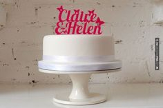 Love this - Personalized Wedding Cake Topper   CHECK OUT MORE GREAT PINK WEDDING IDEAS AT WEDDINGPINS.NET   #weddings #wedding #pink #pinkwedding #thecolorpink #events #forweddings #ilovepink #purple #fire #bright #hot #love #romance #valentines #pinky