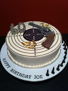 Pistol and Target Cake