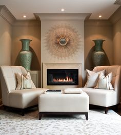 The official website of Powell & Bonnell: Interior Design, Furniture, Lighting and Textiles Living Room Furniture Arrangement, Living Furniture, Furniture Design, Interior Design Portfolios, Luxury Interior Design, Interior Decorating, Indoor Outdoor Fireplaces, Trendy Furniture, Portfolio Design