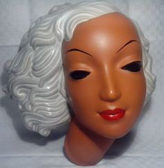1930s Art Deco ceramic wall mask / plaque