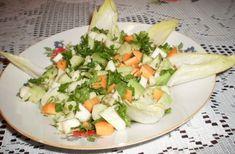 Salata de avocado cu telina, morcovi si andive, Rețetă Petitchef Healthy Salad Recipes, Food Art, Cobb Salad, Cantaloupe, Cheese, Vegan, Cooking, Nicu, Delicious Food