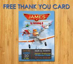 Disney Planes Invitation Planes Birthday by MyFunPartyPrints