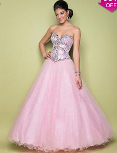 Ball Gown Sweetheart Sleeveless Floor-length Tulle Prom Dresses #FC836 - See more at: http://www.avivadress.com/special-occasion-dresses/quinceanera-dresses/sweet-16.html#sthash.XIT63sO0.dpuf