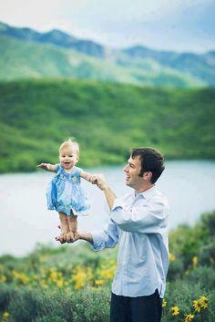 Joyful father and daughter