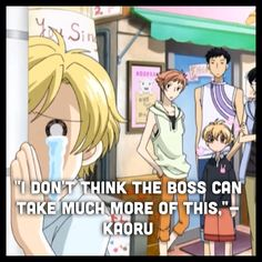 Ouran High School Host Club - poor Tamaki (made by @BVBSuperWhoLock)