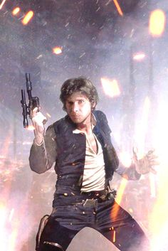 """ArtStation - Han Solo 1., by Team Studio - """"One of a series of comps made while working on Star Wars cover art. Lucasfilm Del Rey.  Traditional art, color reworked in photoshop"""" #StarWarsArt #Art #StarWars"""