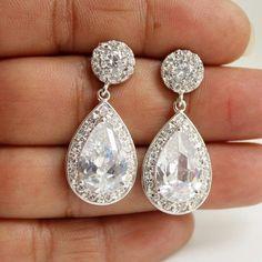 Wedding Earrings Wedding Jewelry Bridal Earrings by poetryjewelry