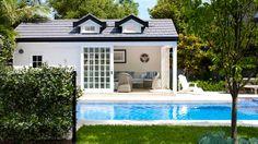 Hamptons style pool house