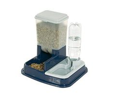 Pet Food Water Feeder Dispenser Cat Dog Dry Food 2 In 1 Automatic 5 Litre Feed