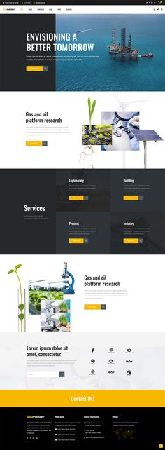 With Baumeister WordPress theme you get all the tools you need for creating a modern business website. Corporate Website Design, Website Design Layout, Web Layout, Corporate Design, Web Design Trends, Web Design Inspiration, Design Ideas, Construction Website, Portfolio Web Design