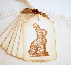 Chocolate Bunny Gift Tags