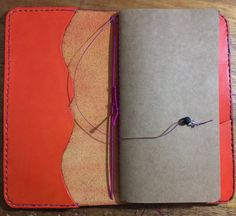 Leather Traveler's Notebook Artisan Handcrafted Life by MystLily