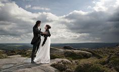 Bronte Series I: Wuthering Heights Location: Hathersage Moor Clothing Designers: Victorian Muse (mens jacket) and Kindred Spirits Bridal-Originals aka J. Wuthering Heights I Emily Bronte, Peter Rosegger, Yorkshire, Gothic Culture, Wuthering Heights, Centenario, Anniversary Photos, Classic Literature, Just Married