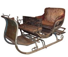 Antique sleds | DesignMarks: Antique Sled by Aulaire | Apartment Therapy