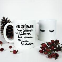 #Kaffeetasse mit Spruch #Glühwein, Geschenkidee für die Adventszeit / funny #christmas gift idea: coffee mug with funny saying made by Formart-Zeit-fuer-schoenes via DaWanda.com