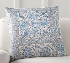 Karlie Block Print Pillow Cover
